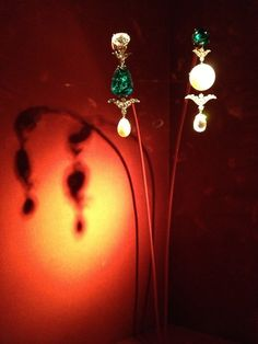 JAR ~ Pendant Earrings, 2012 ~ Oriental pearls, emeralds, diamonds, platinum, gold. Private Collection ~ Photo courtesy of Sweet Sabelle