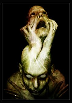 ✯ Schizophrenia by ~Clouded-and-Shadowed ✯ Indeed. We don't live long because nobody loves us. Our memory is forgotten. Mental Health Art, Schizophrenia, A Level Art, Human Condition, Dark Night, Horror Art, Dark Art, Art Projects, Project Ideas