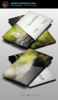 Church Business Card Template  Design for various concepts so you'll have the highest quality presentation. This file is easy to use and is also great for lawn services, roofing, and more. This file is exclusive to graphicriver.net
