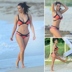Kim Kardashian wore an Agent Provocateur bikini during a recent trip to Miami