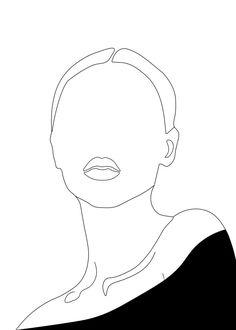 Minimalist Drawing, Minimalist Art, Portrait Art, Woman Portrait, Portrait Tattoos, Pencil Portrait, Grafic Art, Abstract Face Art, Outline Art