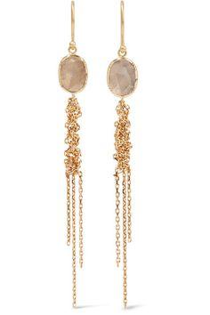 BROOKE GREGSON BROOKE GREGSON - WATERFALL 18-KARAT GOLD DIAMOND EARRINGS. #brookegregson #