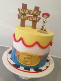 Toy Story Jessie cowgirl cake with Jessie Disney infinity toy by Finesse Cakes by Ingrid, Melbourne