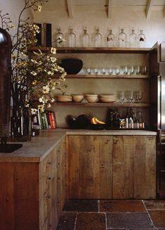 Drewno z odzysku z kuchni - fronty ze starego drewna.