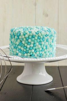 Easy Star Tip Cake Decorating Idea - Ocean Theme