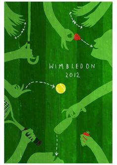 Strawberries, champagne, brollies, and tennis #wimbledonworthy