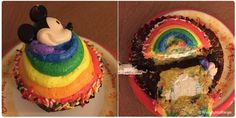 Rainbow Cupcake from Contempo Cafe Disney Cupcakes, Rainbow Cupcakes, Disney World Food, Walt Disney World, Disney Snacks, Places To Eat, New Recipes, Disneyland, Parks
