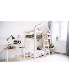 Bunk bed G of Scandinavian type. Modern design, ideal for children's and teen bedroom Wood bed frame included Weight maximum 90 kg 2 years warranty See our models and prices according to dimensions From € 279 Triple Bunk Beds Plans, Bunk Bed Plans, Play Beds, Kids Bunk Beds, Loft Beds, Baby Bedroom, Kids Bedroom, Bed Without Mattress, Bed Measurements