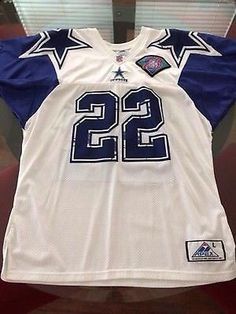49763a692 Dallas Cowboys Emmitt Smith Apex Authentic Jersey w/ 75th Anniv. Patch Dallas  Cowboys Jersey