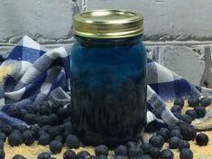 Blueberry Cobbler MOONSHINE! Alcoholic Punch, Alcoholic Desserts, Drinks Alcohol Recipes, Yummy Drinks, Drink Recipes, Alcoholic Shots, Strawberry Moonshine Recipe, Blueberry Moonshine, Blueberry Cobbler