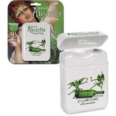 Absinthe Flavored Dental Floss - a great gift for your favorite Goth.
