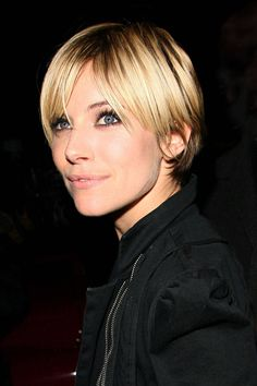 """When Miller was 16, she walked into a salon, clutching a photo of Winona Ryder in her pixie cut. """"But when I walked out, I looked as if I had a helmet on,"""" the actress told People StyleWatch. """"My boyfriend at the time opened the door and closed it in my face."""" Fortunately, her second go at wearing the look, for playing the role of Edie Sedgwick in Factory Girl, made her into the ultimate femme fatale.   - ELLE.com"""