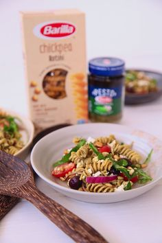 """AD: Barilla Chickpea Rotini Pesto Salad. I am constantly looking for ways to add more protein and fiber to my meals and have been using #BarillaUS Chickpea Rotini Pasta because it offers just that. Barilla leveraged its more than 140 years of expertise to create pasta with one simple ingredient – chickpea flour. They offer a delicious taste and always """"al dente"""" texture. Plus it is certified gluten free! Try the recipe and let me know what you think!"""