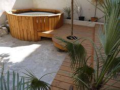 "Résultat de recherche d'images pour ""amenagement jacuzzi"" Hot Tub Backyard, Backyard Ideas, Hot Tub Surround, Pergola Patio, Patio Decks, Hot Tub Room, Tub Enclosures, Patio Deck Designs, Outdoor Pool"
