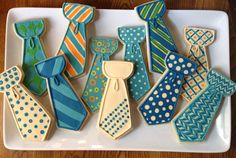 """""""Little Man"""" Party Man Cookies, Iced Cookies, Cute Cookies, Sugar Cookies, Cookies Et Biscuits, Little Man Party, Fathers Day Cake, Couple Shower, Cupcakes"""