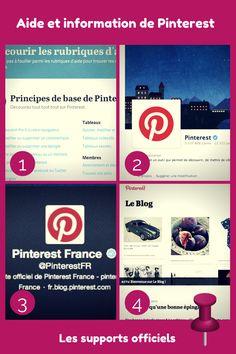 Voici les différents  sites officiels en Français qui vous permettront de suivre l'actualité et obtenir de l'aide de #Pinterest