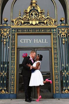 San Francisco's gorgeous City Hall is the perfect backdrop for elopement photos.