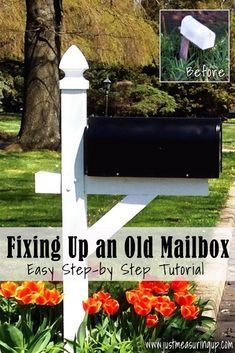 Have an old mailbox that's leaning out toward the road? From building a sturdy post to spray painting your mailbox, learn how to easily fix your mailbox with this easy tutorial. And, as a bonus, a gorgeous mailbox makes for great curb appeal.