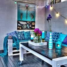 turkise rom - Google-søk 2015 Trends, Color Trends, Outdoor Living, Exterior, Night, Creative, Furniture, Design, Home Decor