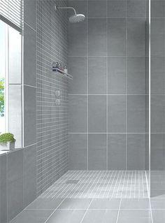 La couleur grise & 100+ Bathroom Tile Ideas Design Wall Floor Size Small Gallery ...