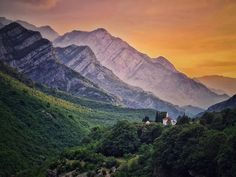 How about that sunset?  The location of this small mosque under the cliffs of Mt. Čabulja in Drežnica valley looks almost out of this world.   #HighlanderAdventures Bosnia, Out Of This World, Mosque, Mount Everest, Hiking, Adventure, Mountains, Sunset, Travel