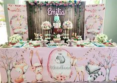 Baby Girl Shower Themes, Girl Baby Shower Decorations, 1st Birthday Party For Girls, Baby Birthday, Enchanted Forest Theme Party, Baby Event, Woodland Party, First Birthdays, Instagram