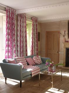 Traviata Fabric Collection (source Clarke & Clarke) / Fabric Wallpaper Australia / The Ivory Tower Couches, Clarke And Clarke Fabric, Fabric Wallpaper, House Goals, Living Room Inspiration, Soft Furnishings, Window Treatments, Love Seat, Upholstery