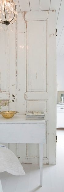 Gorgeous white painted cabinet hutch armoire.