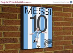 Lionel Messi 10 Canvas Print #soccer #football #homedecor #g17 #futbol #decor #art #print #poster