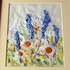 Delphiniums Free Style Embroidery by free style girl, via Flickr