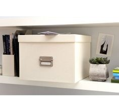 Suspension File Box with 8 Hanging Files | Bigso