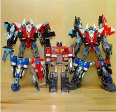 Energon Superion, G1 optimus prime, Crossfire Superion