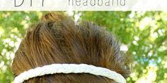 DIY Braided T-Shirt Headband Tutorial Looks cute! I need headbands that stay! Hope this works... :)