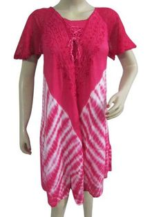 Boho Beach Coverup Dress, Pink Hippy Embroidered Tie Dye Dresses for Womens Mogul Interior,http://www.amazon.com/dp/B00CLOFOAY/ref=cm_sw_r_pi_dp_P2XGrbB3F70E4185