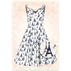 Adorable, la robe imprimée Tour Eiffel de Miss Candyfloss! Robe d'été swing Adelise Paris ♥ MissRetroChic.com glamour & vintage online boutique ♥