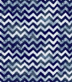 Keepsake Calico Cotton Fabric-Chevron Indigo