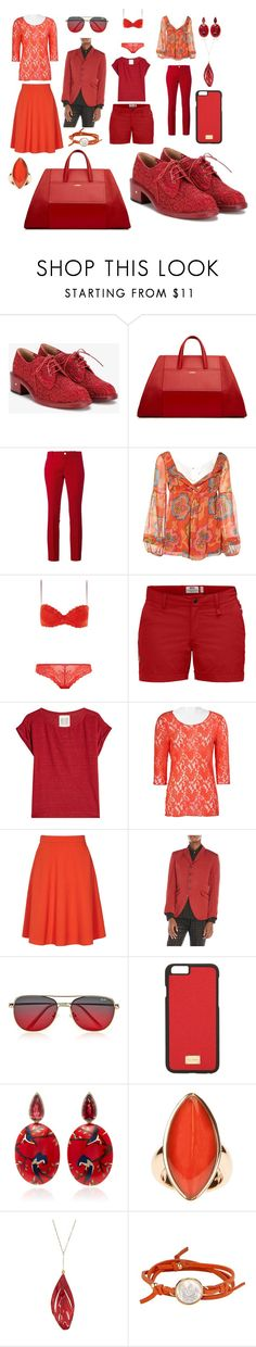 """Untitled #2327"" by moestesoh ❤ liked on Polyvore featuring Laurence Dacade, La Perla, Gucci, Diane Von Furstenberg, Fjällräven, Velvet, BKE, Ann Demeulemeester, Quay and Dolce&Gabbana"
