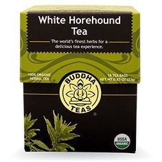 Organic White Horehound Tea  Kosher Caffeine Free GMOFree  18 Bleach Free Tea Bags * Check this awesome product by going to the link at the image. (This is an affiliate link and I receive a commission for the sales)