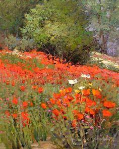 "huariqueje: "" Serene Surroundings - Kent R. Wallis American b.1945- """