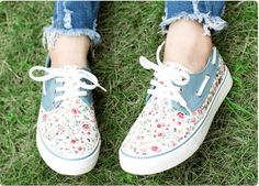 2014 Summer Spring Floral Women Sneakers Lace-Up Canvas Shoes for Women Flat Shoes with Shoelace Casual Running Sports Shoes - 15% off