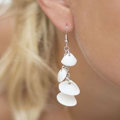 What to do with seashells you brought at home after the summer vacance? Seashell dangle earrings