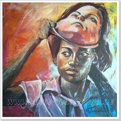 no chance for racism - Acryl auf Leinwand 80 x 80 cm