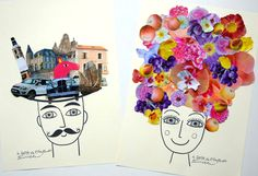 The DADA of Enfant Terrible: Head terrible dada / Bláznivá hlava Toddler Crafts, Crafts For Kids, Art Du Collage, Dada Art, Arte Online, Ecole Art, Art Club, Art Activities, Teaching Art