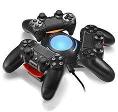 Vinpie PS4 Controller Charger Docking Station Tripple Charging Station with BLUE LED LIGHT for PS4 Playstation 4 DS4 DualShock 4… #deals