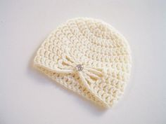 Girl newborn Hat-Crochet baby Hat-Baby Girl by prettyobject
