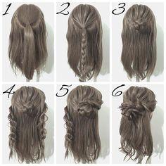 ☆簡単ヘアアレンジ☆ 今回は三つ編みとロープ編みで作るお団子ハーフアップです☝️ ①、トップを一本に結び、ほぐします。 ②、①の毛先を三つ編みします。 ③、②の三つ編みをくるくると巻いてお団子を作ります。 ④、両サイドをロープ編みします。 ⑤、右側のロープ編みを③のお団子に巻きつけてピンで留めます。 ⑥、左側のロープ編みも同様にお団子に巻きつけてピンで留めます。毛先をコテで巻きます。最後に全体のバランスを見ながらほぐして完成です お団子を作る前に三つ編みをほぐしておいてください お団子の作り方とロープ編みのやり方は、 【YouTube】に載せています わかりにくいとこなどがあれば是非聞いてください DMやLINE@でも大丈夫ですよ その他にリクエストがあればお応えしますよ #ゆうやんヘアー#ヘアカラー#ヘアアレンジ#ヘアセット#簡単ヘアアレンジ#セルフヘアアレンジ#簡単アレンジ#セルフアレンジ#ヘアアレンジ解説#ヘアメイク#くるりんぱ#シニヨン#サロンモデル#ヘアアレンジ動画#三つ編み#ボブアレンジ#編み込み#ほぐし#まとめ髪#ブライ...