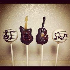 Guitar cake pops #wiltoncontest