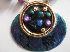 Vintage 1980s Necklace Metal Chain Peacock by GoodGoodyGirlsJewels, $20.00