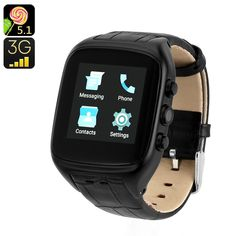 iMacwear Watch Phone - Android OS, Inch Touch Screen, Dual-Core CPU, IMEI Number, Camera (Black) - - The iMacwear Watch Phone features a touchscreen and lets you enjoy all features similar to that of an Android phone on your wrist. Watch For Iphone, Android Watch, Android Wear, Smart Watch Review, Camera Watch, Best Smart Watches, Thing 1, Electronics Gadgets, Cell Phone Accessories