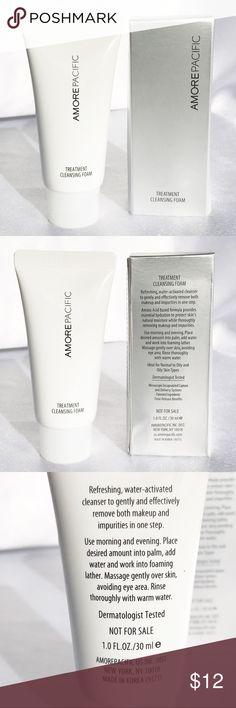 🆕AmorePacific Treatment Cleansing Foam🆕 New in box AmorePacific Treatment Cleansing Foam, travel-size 1oz/30mL.  A foaming cream cleanser that effectively removes makeup and impurities without stripping away moisture while helping to treat and prevent breakouts.  Check out my other listings to bundle and save! Sephora Makeup
